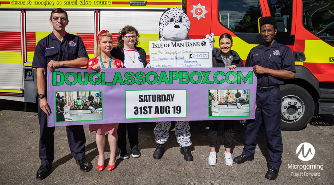 Microgaming PlayItForward raises funds for The Fire Fighters Charity